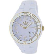 Relógio Adidas Adh2687 Branco Chronograph Silicone Original