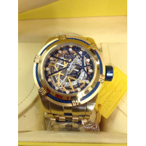Relogio Invicta Original Masculino Bolt Zeus Skeleton Gold