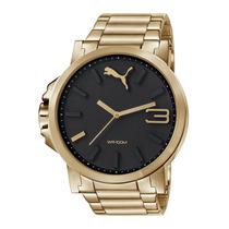 Relógio Masculino Puma 96216gppmda5 54mm Dourado