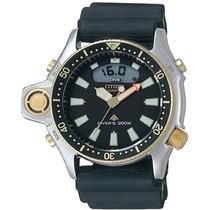 Relógio Citizen Aqualand Jp2004 Serie Ouro Nota Fiscal