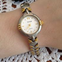 Relógio Feminino Dourado Prateado Pequeno Delicado Pulseira