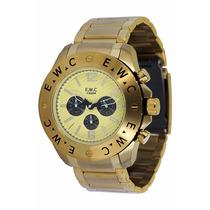 Relógio Ewc Masculino Colossal Gold Emt15311-d