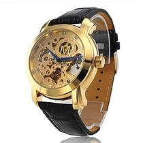 Novidade! Relógio Mecânico Automático Masculino,couro, Luxo.