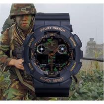 Relógio Camuflado Shock Resist Ga100 Exercito- Não É G Shock