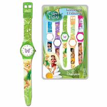 Relógio Infantil Quartz Troca Pulseiras Champion Fadas Femin