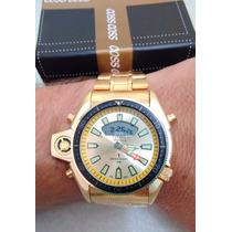 Relogio Citizen Aqualand Jp2004-07 Série Ouro Dourado Gold