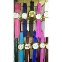 Kit Relógios Feminino Pulseira De Silicone Atacado Lote C/10