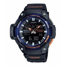 Relógio Casio Sgw450h-2b, Altimeter, Barometer, Thermometer
