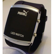 Relogio Led Pulso Puma Sport Black Watch Led Digital