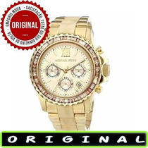 Relógio Michael Kors Mk5874 Gold Madreperola 42mm Oversized