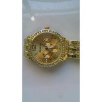 Relógio Banhado A Ouro Feminino Original Geneva