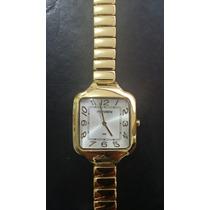 Lindo Relógio Mondaine Feminino Folheado A Ouro