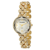 Relógio Mondaine Feminino Dourado Pedras 83246lpmvdm1