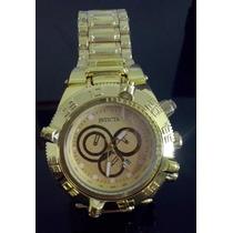 Relógio Invicta Masculino Dourado Subaqua Frete Grátis