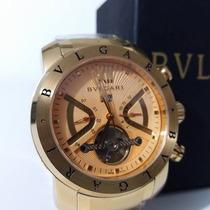 Relógio Masculino Iron Man Dourado Fundo Dourado