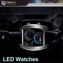 Relógio Tvg Led Militar Luxo. Velocimetro Carro.