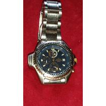 Relógio Antigo Citizen Althicron 7240 Fundo Azul Raro