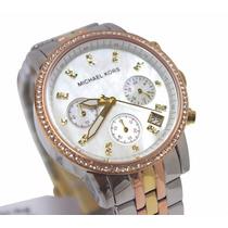 Relógio Michael Kors Mk5650 Madrepérola Strass Caixa/manual