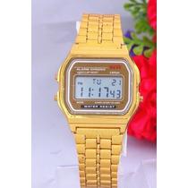 Relógio De Pulso Masculino Casio Wr Gold Dourado A159w