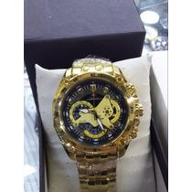 Relógio Casio Edifice Preto Ouro Frete Gratis Garantia