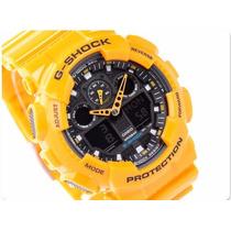 Casio G-shock Ga100 A9 Amarelo Ga-100 - 100% Original