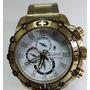 Relógio Atlantis Sports Dourado Original A3270 Fundo Branco