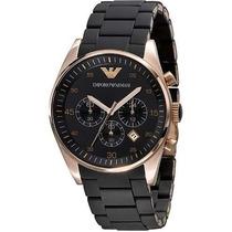 Relógio Emporio Armani Ar5905 Preto Rose Lindo Frete Grátis