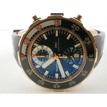 Iwc Aquatimer Cronografo 44mm 120m, Completo. Ouro Rosa,