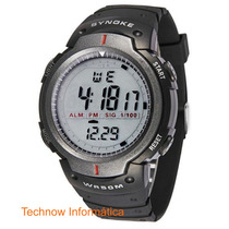 Relógio De Pulso Masculino Digital Synoke Wr50m Cód.083