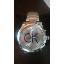 Relógio Prateado Calvin Klain Frete Grátis