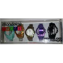 Relógio Mondaine Twist Troca Pul. Metalizada 94400l0mcnp2