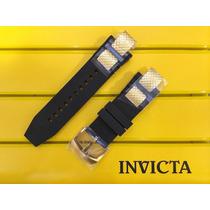 Pulseira Original Invicta Subaqua Noma 3 - Preta Com Dourado