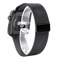 Pulseira Metal Apple Watch 42 Milanese Loop Stainless Preta