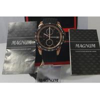 Relógio Magnum Masculino Cobre Pulseira Borracha Original