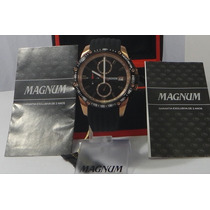 Relógio Magnum Cobre Pulseira Borracha Masculino Original