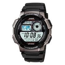 Relógio Casio Ae-1000w-1bvdf Luz De Led Hora Mundi Original