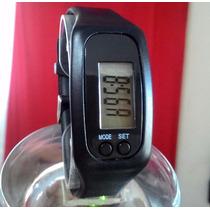 Relógio Digital Pedômetro Distancia Gasto Calorico Cor Preto