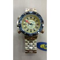 Relógio Original Atlantis Dourado Modelo Citzen
