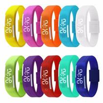 Relógio Led Digital Sport Bracelete Pulseira Silicone