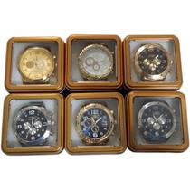 5 Relógio Masculino Dourado Kit Atacado Ideal Para Revendas