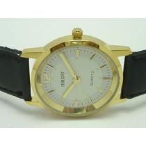 Relógio Cavalheiros Orient Banhado A Ouro