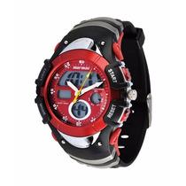 Relógio Mormaii 7870m Preto Com Vermelho !!novo!!