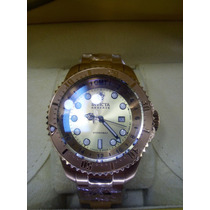 Invicta Reserve Hydromax 18k Gold Ip Swiss Gmt Silver 16962