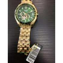 Relógio Magnum Automático Dourado E Verde