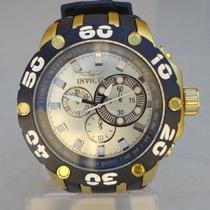 Relógio Masculino Modelo Invicta Subaqua Dourado Ostentação