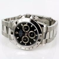Relógio Prata Fundo Preto Daytona Promoção Sedex Grátis