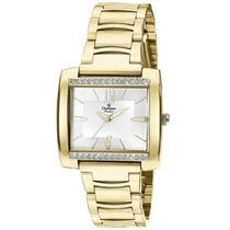 Relógio Feminino Champion Dourado Quadrado Ch24571h