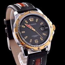 Relógio Masculino Black Gold Curren 8104 Quartz Calendário