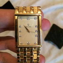 Bulova 12 Diamond Ouro 24 K Menos Da Metade Do Preço !!!!!!