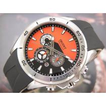 Relógio Orient Cronógrafo Quartzo Calendario Aço Mbspc019